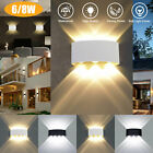 Cube LED Wall Light Modern Up Down Sconce Lighting Fixture Lamp In/Outdoor Decor