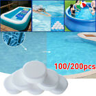 100/200pcs Chlorine Tablets Multifunction Instant Disinfection For Swimming Pool
