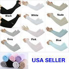 1 Pair Cooling Arm Sleeves Cover Sports UV Sun Protection Outdoor For Men Women