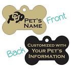 Colorado Buffaloes | 2-Sided Pet Id Dog Tag | Personalized for Your Pet