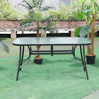 Tempered Glass Dining Table Garden Patio Tables With Parasol Hole Bistro Cafe Uk