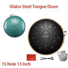 Ulalov Drum Steel Tongue Hand-pan Drum 15 Note with Travel Bag Fer Pick Gift