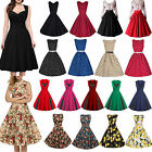 Women 50s 60s Floral Vintage Rockabilly Pinup Cocktail Party Retro Swing Dress