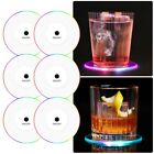 6 x LED Cup Pad Mat Cocktail Luminous Coaster Drink Beer Club Bar Party Decor