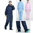 Unisex Anti-static Woorkwear Hooded Coverall Jumpsuit Dust-proof Uniform Overall