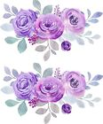 2 X Flower Stickers, Purple, Crafting, Wall, Furniture, Home, Laptop.