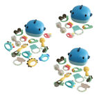 Teether Rattles Shaking Bell Shaker Grab Spin Teething Toys New for Newborn