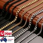 Basic Punk Solid Stainless Steel Necklace Curb Cuban Link Chain Choker Classic