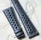 Blue 24mm racing vintage watch band 1960s/70s for Triumph Tiger Monaco 17 sold