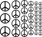 Peace Sign Symbol Wall Decals Teen Room Vinyl Stickers