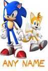 SONIC THE HEDGEHOG AND TAILS PERSONALISED KIDS T SHIRT