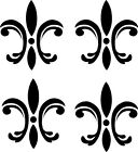 4 Fleur de lis Wall Stickers Vinyl Decal Scroll Border