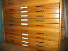 "5 Drawer Stack-able Oak Wood Map File Cabinet for 24""X36"""