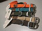 """MENDOTA Double Braided Dog Collar 1"""" W Up to 21"""" L SOFT Made in USA"""