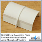 D-Line 50x25 Connecting Piece for TV Wire Hiding Covers