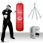 TurnerMAX Red Leather Punch bag muay thai kickboxing punching bag thai boxing