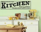 Kitchen Season with Love Vinyl Wall Decal Word Sticker