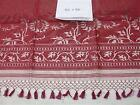 "Tablecloth Silk Zuzka Fabricology Designer MSRP $100 Floral Silk RED 45"" x 90"""