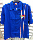 HOMER SIMPSON STUPID GRAVITY MEN'S BLUE COTTON BOWLING SHIRT