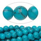 1 Strand Imitation Blue Turquoise Gemstone Round Bead   *4,6 or 8mm