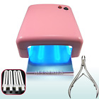 36 / 54 W UV Lamp Light Nail Dryer Gel Curing with timer +bulbs