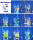 NEW NICKELODEON SPONGEBOB FIGURE v1 LIGHT LAMP FAN PULLS 8 DIFFERENT YOU PICK
