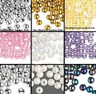 800 OR 400 Plastic Round Beads 8mm OR 10mm *You Choose Color