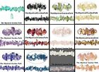 """36"""" Strand Aurora Borealis Glass 4-9mm Chips  *Many Colors Available"""