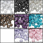 85+ Acrylic 10mm Round Beads With Silver Accent *Purple Black Turquoise & more