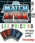 MATCH ATTAX 11/12 CHOOSE FROM ALL 20 STAR SIGNING CARDS
