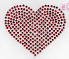 Heart -- Rhinestone Iron On Transfer Hot Fix  Available in 9 colors