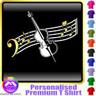 Double Bass Curved Stave - Personalised Music T Shirt 5yrs - 6XL by MusicaliTee