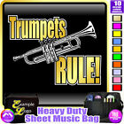 Trumpet Rule - Sheet Music & Accessories Personalised Bag by MusicaliTee