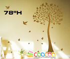 """Wall Decor Decal Sticker large Removable vinyl large 78"""" Banyan tree"""