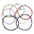Wholesale Leather Charms Bracelet Love Braided For Beads 15 -23cm Choose 7 Color