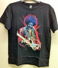 JIMI HENDRIX 'ELECTRIC GUITAR' OFFICIAL MEN'S BLACK COTTON T-SHIRT BNWT
