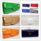BRAND NEW PVC EVENING CLUTCH HANDBAG WEDDING PARTY PROME-MUL-COLOURS LONG CHAIN