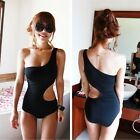 Trendy One Shoulder S-Shape Monokini One Piece Bathing Suit Swimsuit  UW91