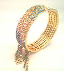 Indian Crystal Bangle  - Sparkling Rhinestones - Bollywood Glitz -  Free P&P