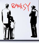 Intriguing contemporary art Banksy Looking At The Art fab vinyl wall sticker UK