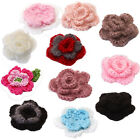 10x Handmade Crochet Flower Appliques for Sewing Craft Clothing Hat DIY New