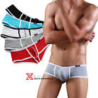 Men's Hot Sexy Soft Low Rise Bikini Boxers Underwear WJ210 Multicolor S M L