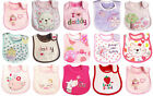 Newborn Baby Girl Pink Love Daddy Mommy Waterproof Cotton Bibs Bundle