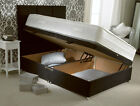 SIDE LIFT OTTOMAN BED IN CHENILE + ALOE VERA MEMORY FOAM MATTRESS + HEADBOARD