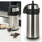 NEW STAINLESS STEEL 3L / 5L LITRE AIRPOT PUMP ACTION HOT & COLD TEA COFFEE FLASK
