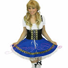 Oktoberfest Beer Girl Maid Fancy Dress Costume Plus Size 8 10 12 14 16 18 20 22