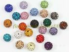 12mm/14mm/16mm of Rhinestones Crystal Acrylic Round Spacer Beads 10pcs chose
