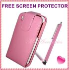 NEW BABY PINK FLIP PU LEATHER CASE COVER POUCH FOR ALL MAJOR MOBILE PHONES