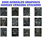"GONZALES ART 2000 VENDING MACHINE HOMIES 12 STICKERS SET 2.5"" x 3.5"" YOU PICK!"