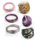 30pcs Various Color Loops Memory Beading Wire for Bracelet 22cm TO PICK